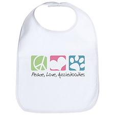 Peace, Love, Aussiedoodles Bib
