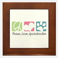 Peace, Love, Aussiedoodles Framed Tile
