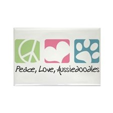 Peace, Love, Aussiedoodles Rectangle Magnet