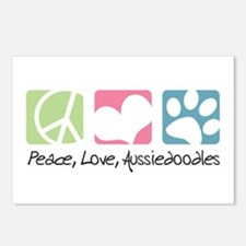 Peace, Love, Aussiedoodles Postcards (Package of 8