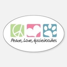 Peace, Love, Aussiedoodles Sticker (Oval)
