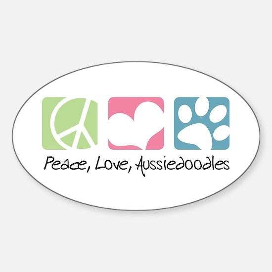 Peace, Love, Aussiedoodles Sticker (Oval)