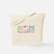 Peace, Love, Malti Tzus Tote Bag