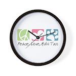 Peace, Love, Malti Tzus Wall Clock