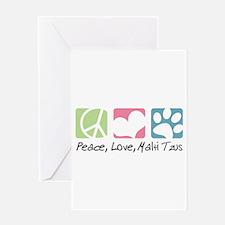 Peace, Love, Malti Tzus Greeting Card