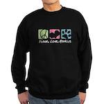 Peace, Love, Morkies Sweatshirt (dark)