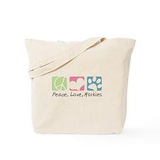 Peace, Love, Morkies Tote Bag