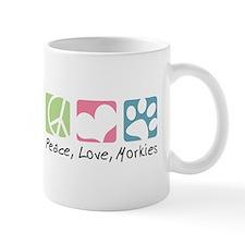 Peace, Love, Morkies Mug
