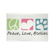Peace, Love, Morkies Rectangle Magnet