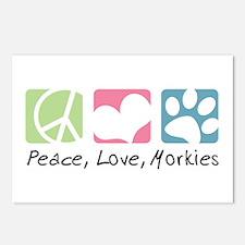 Peace, Love, Morkies Postcards (Package of 8)