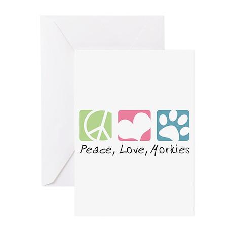 Peace, Love, Morkies Greeting Cards (Pk of 10)