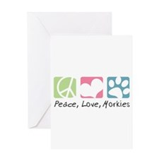 Peace, Love, Morkies Greeting Card