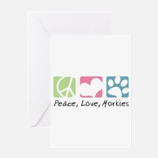 Peace, Love, Morkies Greeting Card