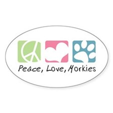 Peace, Love, Morkies Decal