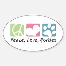 Peace, Love, Morkies Sticker (Oval)