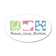 Peace, Love, Morkies 22x14 Oval Wall Peel