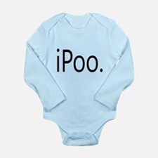 Funny iPoo Apple Parody Long Sleeve Infant Bodysui