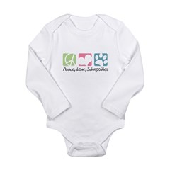 Peace, Love, Schnoodles Long Sleeve Infant Bodysui