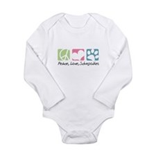 Peace, Love, Schnoodles Long Sleeve Infant Bodysui