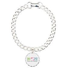 Peace, Love, Schnoodles Charm Bracelet, One Charm