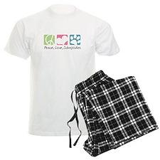 Peace, Love, Schnoodles Pajamas