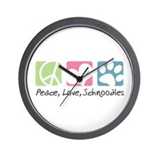 Peace, Love, Schnoodles Wall Clock