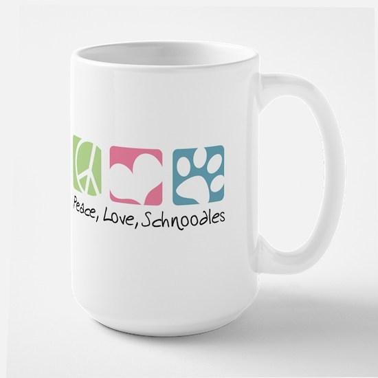 Peace, Love, Schnoodles Large Mug