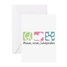 Peace, Love, Schnoodles Greeting Cards (Pk of 10)