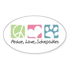Peace, Love, Schnoodles Decal