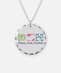 Peace, Love, Shorkies Necklace