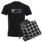 Peace, Love, Shorkies Men's Dark Pajamas