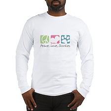 Peace, Love, Shorkies Long Sleeve T-Shirt