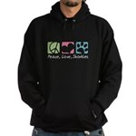 Peace, Love, Shorkies Hoodie (dark)