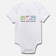 Peace, Love, Shorkies Infant Bodysuit