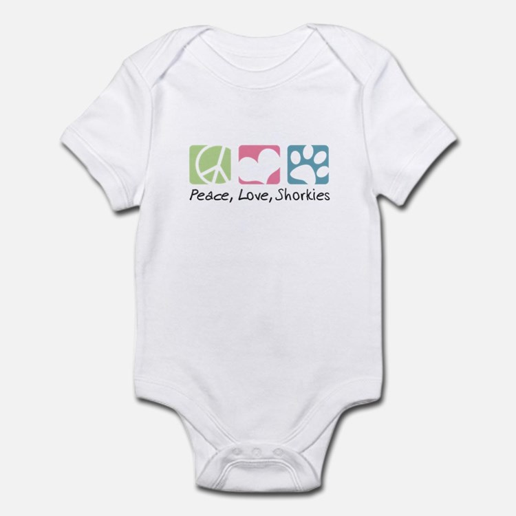 Peace, Love, Shorkies Infant Bodysuit