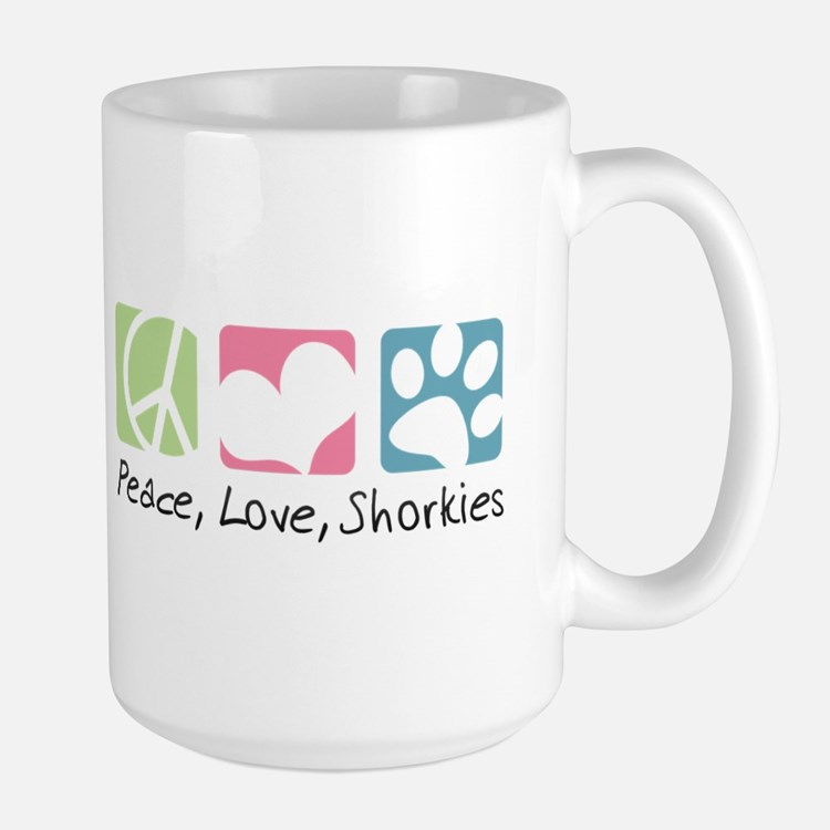 Peace, Love, Shorkies Mug
