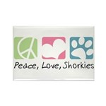 Peace, Love, Shorkies Rectangle Magnet (100 pack)