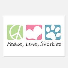 Peace, Love, Shorkies Postcards (Package of 8)