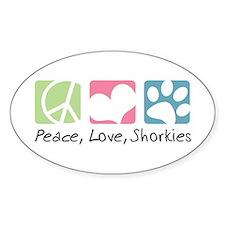 Peace, Love, Shorkies Bumper Stickers