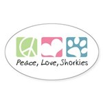 Peace, Love, Shorkies Sticker (Oval 50 pk)