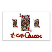 Poker Ice Queen Rectangle Decal