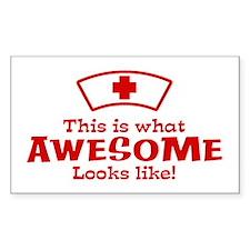 Awesome Nurse Decal