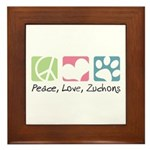 Peace, Love, Zuchons Framed Tile