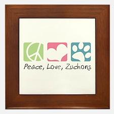 Peace, Love, Zuchons Framed Tile