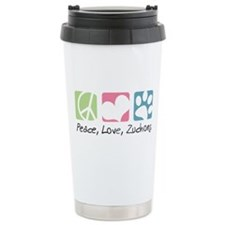Peace, Love, Zuchons Travel Coffee Mug