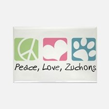 Peace, Love, Zuchons Rectangle Magnet