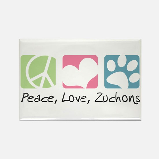 Peace, Love, Zuchons Rectangle Magnet