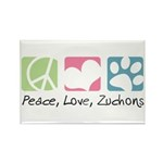 Peace, Love, Zuchons Rectangle Magnet (100 pack)