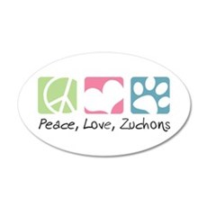 Peace, Love, Zuchons Wall Decal