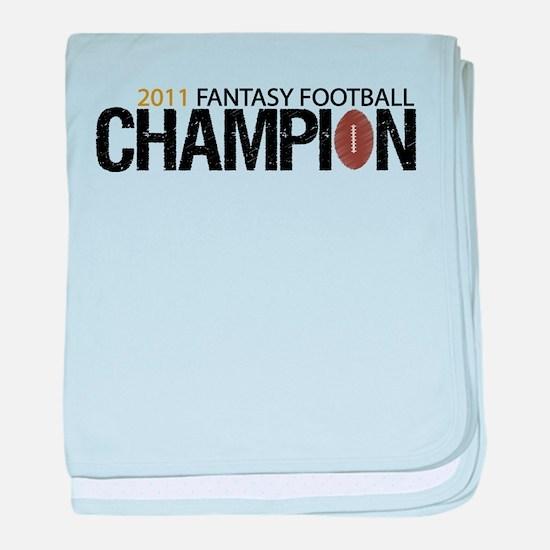 2011 Fantasy Football Champ baby blanket
